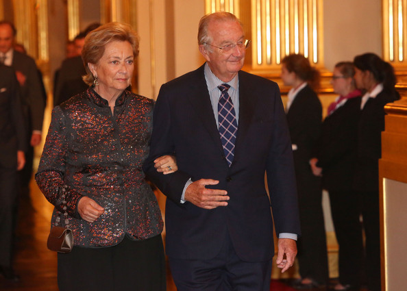 Queen Paola and King Albert of Belgium attend a concert as part of 'Festival van Vlaanderen' at Palais de Bruxelles on October 24, 2012 in Brussel, Belgium.