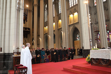 Princess Astrid Prince Philippe Belgian Royal Family Members Attend Memorial Mass For Deceased Royals