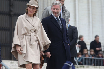 Crown Prince Philippe of Belgium Belgian Royals Attend The Te Deum Mass on Kings Day