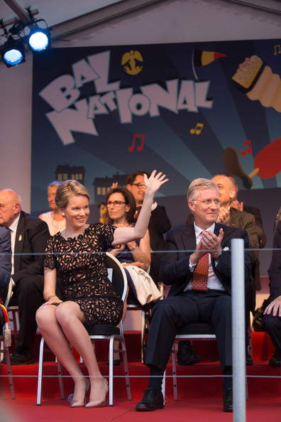 Queen Mathilde and King Philippe of Belgium assist the Bal National on July 20, 2014 in Brussel, Belgium.