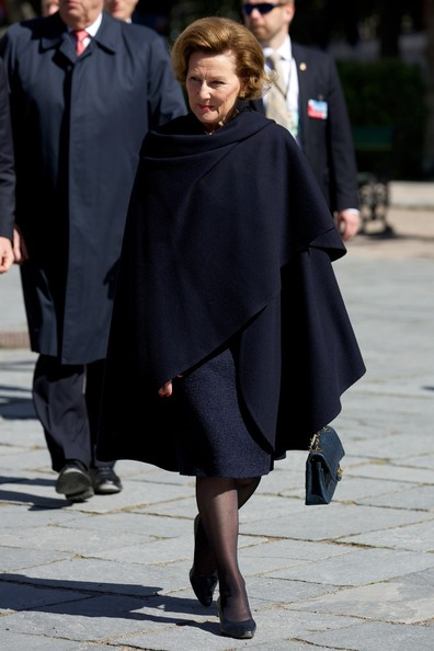 Queen Sonja of Norway visits the Norwegian Museum of Cultural History on April 30, 2014 in Oslo, Norway.