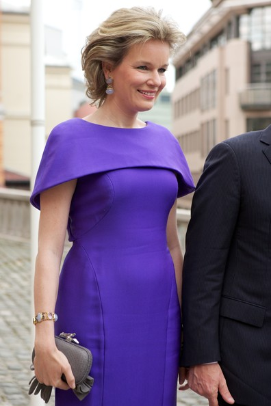 Queen Mathilde of Belgium visits the Norwegian parliament Stortinget on April 30, 2014 in Oslo, Norway.