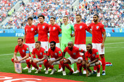 The England players pose for a team photo prior to the 2018 FIFA World Cup Russia 3rd Place Playoff match between Belgium and England at Saint Petersburg Stadium on July 14, 2018 in Saint Petersburg, Russia.