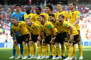 Belgium pose prior to  the 2018 FIFA World Cup Russia group G match between Belgium and Tunisia at Spartak Stadium on June 23, 2018 in Moscow, Russia.