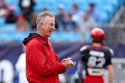 Head coach Tommy Tuberville of the Cincinnati Bearcats watches on before their game against the North Carolina Tar Heels at Bank of America Stadium on December 28, 2013 in Charlotte, North Carolina.