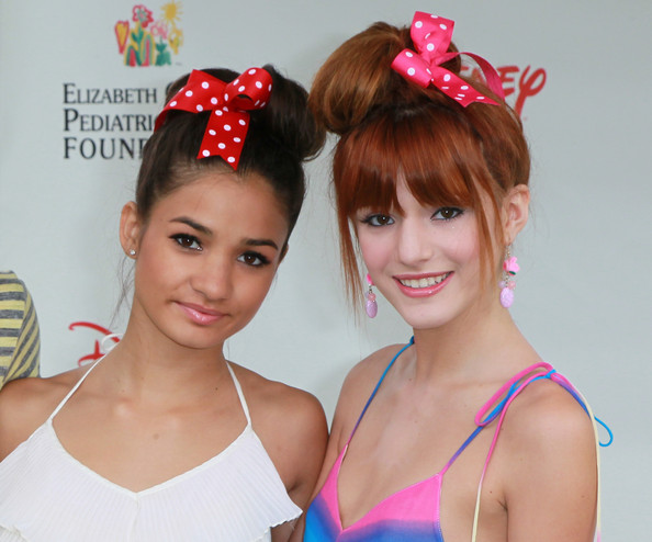 "Bella Thorne Singer Pia Mia (L) and actress Bella Thorne attend the Elizabeth Glaser Pediatric AIDS Foundation's ""A Time For Heroes Event"" at Wadsworth Theater on the Veterans Administration Lawn on June 12, 2011 in Los Angeles, California."