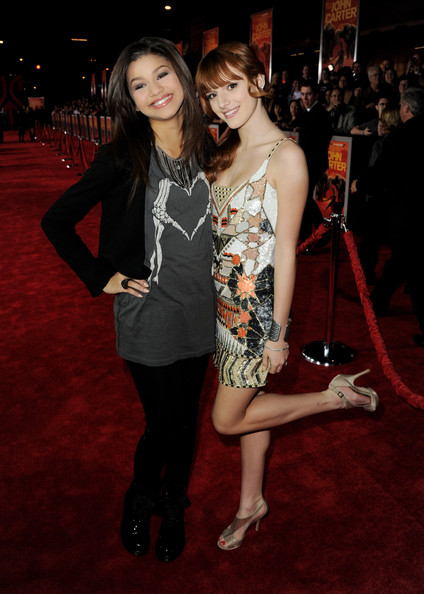 "Zendaya Coleman and Bella Thorne - Premiere Of Walt Disney Pictures' ""John Carter"" - Red Carpet"