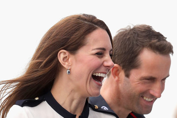 Ben Ainslie The Duchess Of Cambridge Visits Land Rover BAR And The 1851 Trust