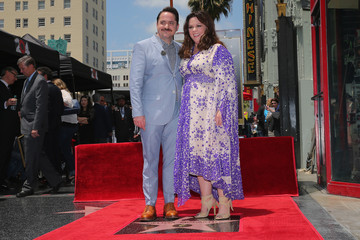 Ben Falcone Melissa McCarthy Honored on the Hollywood Walk Of Fame