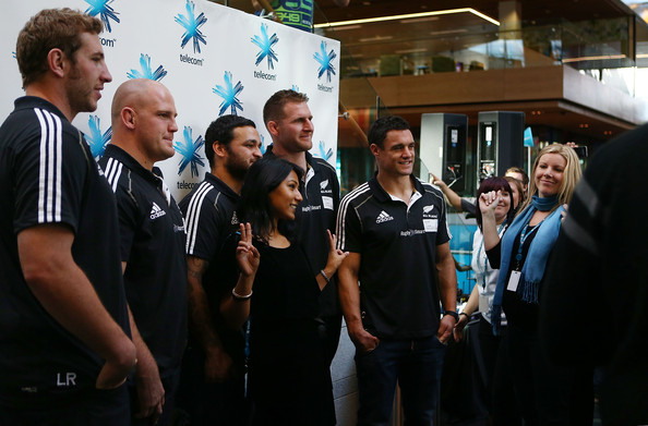 New Zealand All Blacks Attend Media Event At Telecom Place