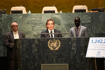 Ben Stiller UNHCR #WithRefugees Petition Handover at UN General Assembly Hall
