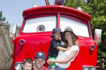 Benjamin Brady Gisele Bundchen Takes Her Family to Disney's Cars Land
