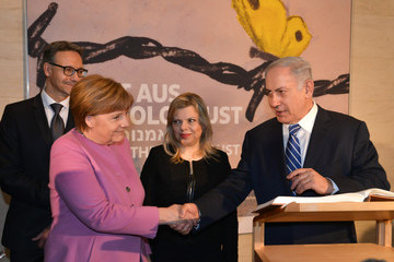 Benjamin Netanyahu German and Israeli Governments Hold Consultations