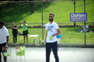 Benoit Paire LACOSTE and City Parks Foundation Host Tennis Clinic in Central Park
