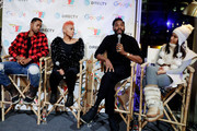 Jay Ellis (L-R) Anika Noni Rose, Colman Domingo and Janina Gavankar speak at the second annual Cocktails and Conversation event presented by the Bentonville Film Festival and Google at the DirecTV Lodge presented by AT&T during Sundance Film Festival 2018 on January 20, 2018 in Park City, Utah.