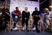 Elizabeth Wagmeister (L-R) moderates a panel with Jay Ellis, Anika Noni Rose, Colman Domingo and Janina Gavankar at the second annual Cocktails and Conversation event presented by the Bentonville Film Festival and Google at the DirecTV Lodge presented by AT&T during Sundance Film Festival 2018 on January 20, 2018 in Park City, Utah.