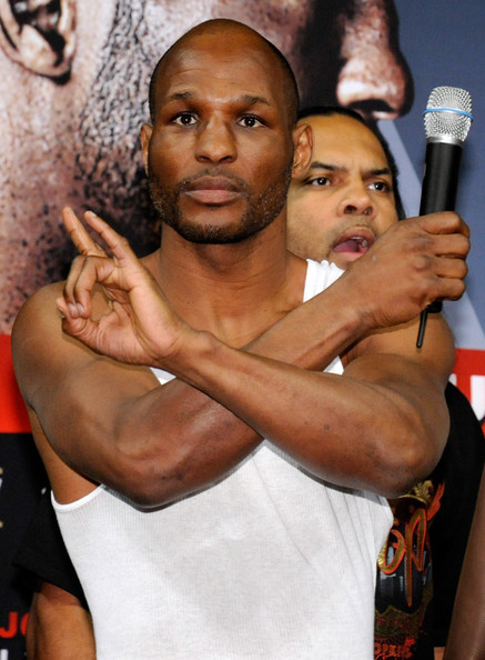 bernard hopkins vs jean pascal. Boxer Bernard Hopkins gestures