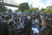 Democratic presidential candidate, Sen. Bernie Sanders (I-VT) greets supporters at a campaign rally in Queensbridge Park on October 19, 2019 in the Queens borough of New York City. This is Sanders' first rally since he paused his campaign for the nomination due to health problems.