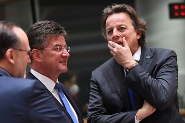 Bert Koenders EU Foreign Ministers Meeting at the European Council