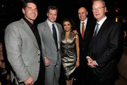 (L-R) President and COO of the Aria Resort & Casino Bill McBeath, MGM Mirage Chairman and CEO Jim Murren, actress Eva Longoria Parker, President and COO of Infinity World Development Bill Grounds and MGM Mirage President and CEO Bobby Baldwin appear during the grand opening of Beso at Crystals at CityCenter, the project's 500,000-square-foot retail and entertainment district, December 3, 2009 in Las Vegas, Nevada. CityCenter, a 67-acre, USD 8.5 billion mixed-use urban development center, a joint project between MGM Mirage and Dubai World, is said to be the biggest privately financed construction project in United States history and one of the world's largest green projects being built with the Leadership in Energy & Environmental Design (LEED) Gold certified Green Building Rating System.