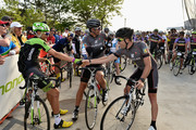 (L-R) Ted King, George Hincapie and Christian Vande Velde  participate in the Best Buddies Challenge: Hyannis Port 2015 on May 30, 2015 in Boston, Massachusetts.
