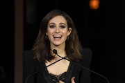 Emmy Rossum speaks onstage during Best Friends Animal Society's Benefit to Save Them All at Gustavino's on April 02, 2019 in New York City.