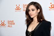 Emmy Rossum attends Best Friends Animal Society's Benefit to Save Them All at Gustavino's on April 02, 2019 in New York City.