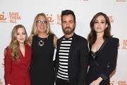 Amanda Seyfried, Best Friends CEO Julie Castle, Justin Theroux, and Emmy Rossum attend Best Friends Animal Society's Benefit to Save Them All at Gustavino's on April 02, 2019 in New York City.