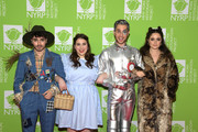 (L-R) Noah Galvin, Beanie Feldstein, Ben Platt and Molly Gordon attend Bette Midler's Hulaween To Benefit NY Restoration Project at New York Midtown Hilton on October 31, 2019 in New York City.