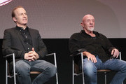 Bob Odenkirk and Jonathan Banks speak onstage during the Better Call Saul FYC Event at the Television Academy on March 26, 2019 in North Hollywood, California.