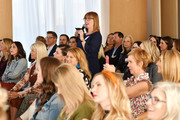 A guest participates in a Q&A with Jennifer Stagg of Stagg Design and Designer Bobby Berk during Better Homes & Gardens Stylemaker 2019 at PUBLIC Hotel on September 19, 2019 in New York City.