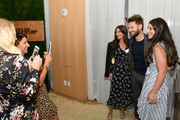 Designer Bobby Berk poses with guests during cocktail hour at Better Homes & Gardens Stylemaker 2019 at PUBLIC Hotel on September 19, 2019 in New York City.