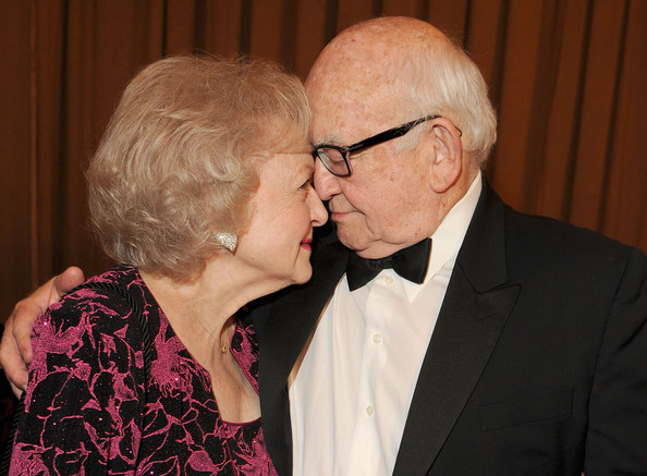 Betty White Actors Betty White and Ed Asner backstage at the 25th Anniversary Genesis Awards hosted by the Humane Society of the United States held at the Hyatt Regency Century Plaza Hotel on March 19, 2011 in Los Angeles, California.