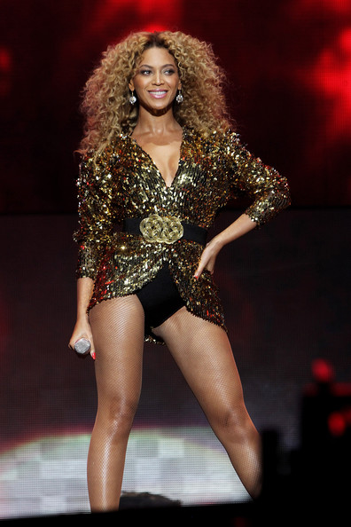 Beyonce Knowles (UK TABLOID NEWSPAPERS OUT) Beyonce Knowles performs at the Glastonbury Festival at Worthy Farm, Pilton on June 26, 2011 in Glastonbury, England. The festival, which started in 1970 when several hundred hippies paid 1 GBP to watch Marc Bolan, has grown into Europe's largest music festival attracting more than 175,000 people over five days.