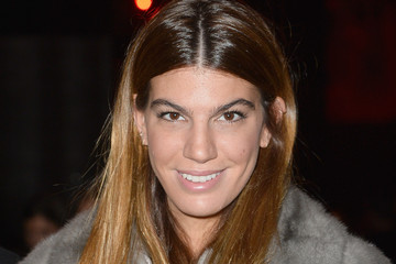 Bianca Brandolini D'Adda Front Row at the Moncler Gamme Rouge Show