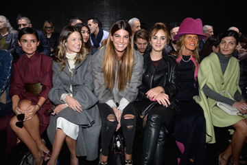 Bianca Brandolini Giovanna Battaglia Front Row at the Moncler Gamme Rouge Show