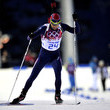 Norwegian Ole Einar Bjoerndalen won his record 12th Olympic medal after dominating the Men's Biathlon.