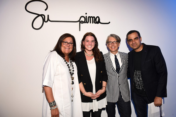 Supima Design Competition - Front Row - Spring 2016 New York Fashion Week: The Shows [shows,eyewear,event,glasses,fun,font,photography,team,style,kate mckenna,bibhu mohapatra,front row,promotions,vp marketing,l-r,supima design competition,new york fashion week,fashion show]