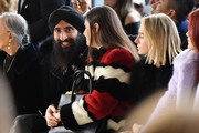 Waris Ahluwalia and attends the Bibhu Mohapatra front row during New York Fashion Week: The Shows at Gallery II at Spring Studios on February 9, 2018 in New York City.