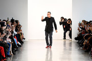Bibhu Mohapatra walks the runway for Bibhu Mohapatra during New York Fashion Week: The Shows at Gallery II at Spring Studios on February 9, 2018 in New York City.