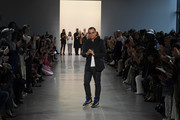 The designer walks the runway for the Bibhu Mohapatra fashion show during February 2020 - New York Fashion Week: The Shows at Gallery II at Spring Studios on February 11, 2020 in New York City.