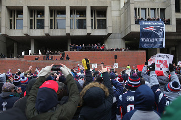 Bill Belichick New England Patriots Send-Off Rally