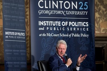 Bill Clinton Bill Clinton Speaks at Symposium Marking 25th Anniversary of His Election