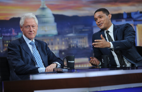 bill clinton and trevor noah photos photos - 'the daily show with