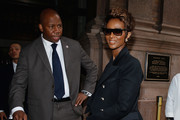 Iman arrives to the Bill Cunningham Memorial  at Carnegie Hall on October 17, 2016 in New York City.