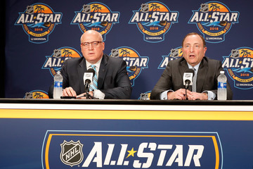 Bill Daly 2018 NHL All-Star - Commissioner Gary Bettman Media Availability