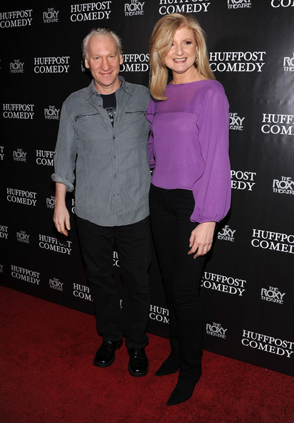 Photo of Bill Maher & his friend actress  Arianna Huffington - Cast