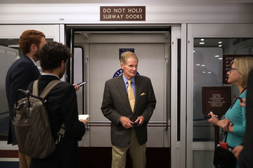 Bill Nelson Senators Return To Capitol Hill After 'Skinny Repeal' Of Obamacare Fails