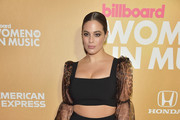 Ashley Graham attends Billboard's 13th Annual Women In Music Event at Pier 36 on December 06, 2018 in New York City.