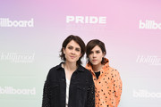 Tegan and Sara attend the Billboard And The Hollywood Reporter Pride Summit on August 08, 2019 in West Hollywood, California.